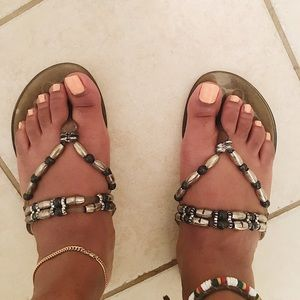 Jelly Beaded Sandals